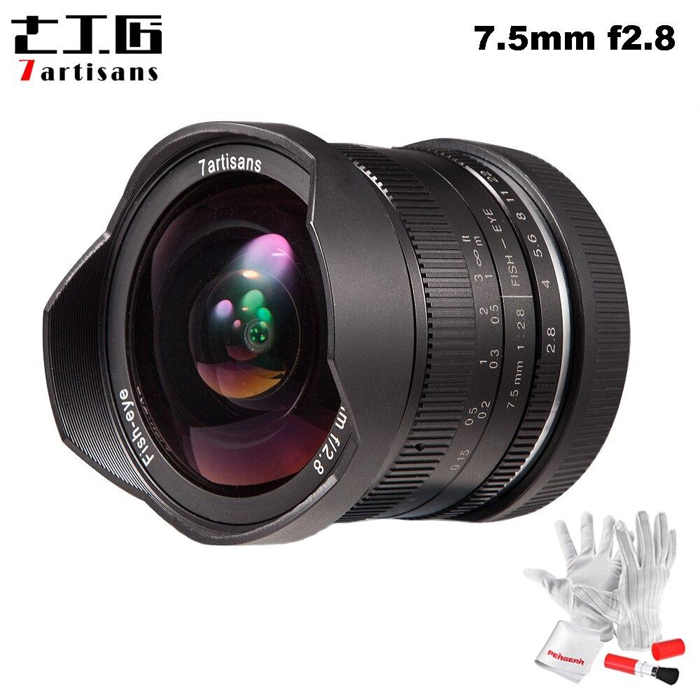 7artisans 7.5mm F2.8 Fisheye Lens 180 Degree Angle Apply to All Single Series for Fuji Canon E Mount Micro 4/3 Mirrorless Camera